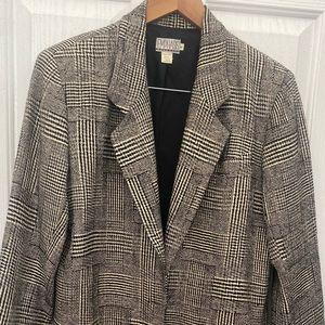 Vintage Bullock's plaid blazer for women